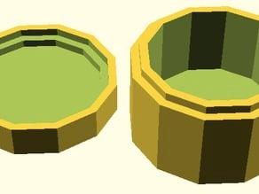 Customizable Polygonal Box with Lid