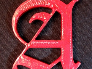 Scarlet Letter - Tactile Writing Prompt