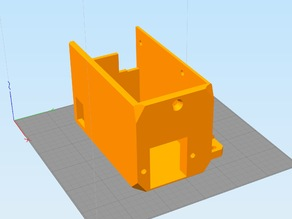 Prusa I3 MK2 PSU cover with rear-exit NEMA-15 socket