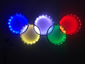 Olympic rings for WS2812 lights