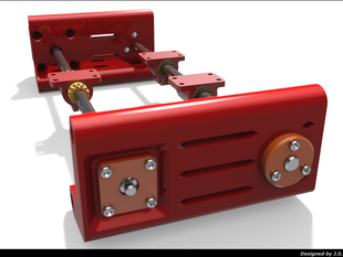 Y-ends for linear stepping motor.