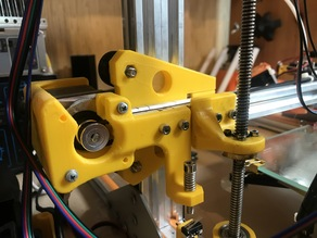 X-axis Motor & Adjustable Endstop Mount for 2020 profile with 2 dampers
