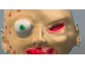 creepy baby head
