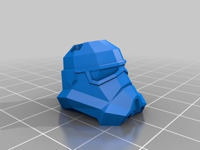 Low Poly StormTrooper Head Keyring