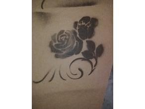 Flower Silhouette Stencil