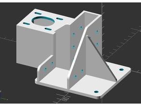 Customizable aluminium profile bracket with optional inverted z-motor mount