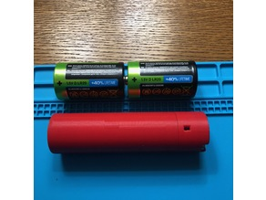 18650 аdapter for 2 D-Cells with charger