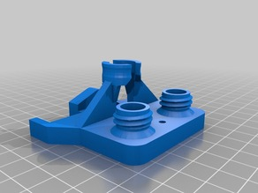 A mixin of 2/3 other extruder plate with cable holder.