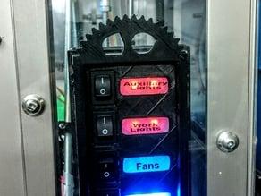 RepRap Prusa i3 Lighted Power Switch Panel