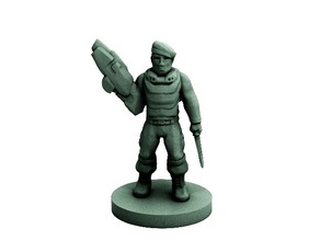 Lost Commando (18mm scale)