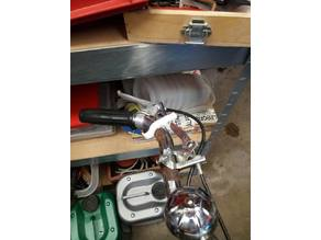 clip-on clutch lever holder