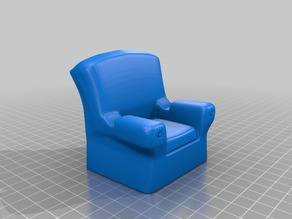 Business Card Display - Arm Chair