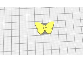 Butterfly clothes button