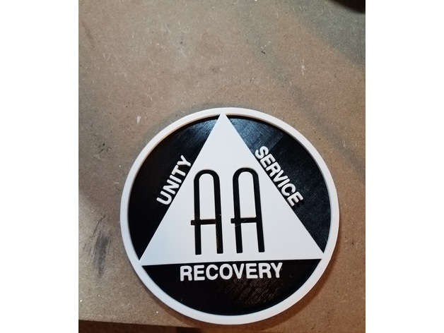 Alcoholics Anonymous Symbol Aa By Techoutreach Thingiverse