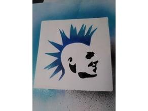 Punk Rocker Stencil
