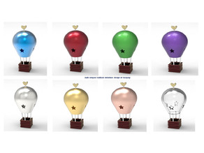 Bulb-shaped balloon miniature toy