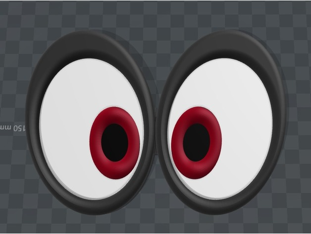 Super Mario Odyssey Cappy Eyes By Print3DLLC Thingiverse