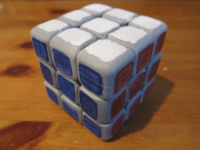 Fully Printed Rubik's Cube - Updated Center Pieces