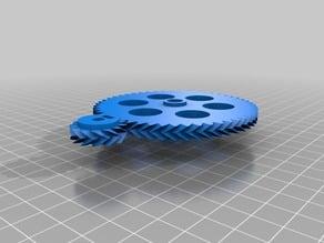 3 My Customized Parametric Herringbone Gear Set for Stepper Extruders