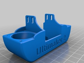 Ultimaker 2 Shroud dual nozzle UM2 upgrade