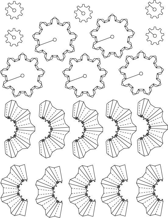 image regarding Printable Gears referred to as Paper printable bevel gears by means of aherbez - Thingiverse