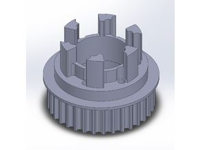 Longboard ABEC 11 Flywheels - Flywheel Clones - MBS All Terrain Wheels - CNC 34T Single Piece Pulley for 9mm, 12mm, 15mm Belts