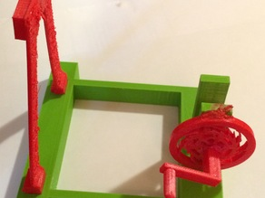 Completely 3D Printed Catapult with ratcheting winch