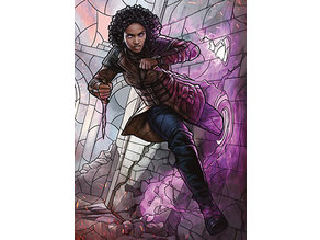 Kaya, Bane of the Dead - stained glass - litho