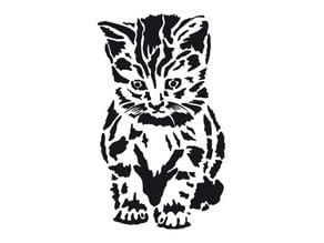 Kitten stencil