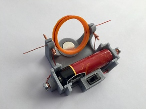 Electric Motor with AA battery holder