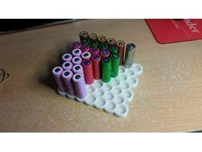 Battery storage tray