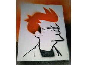 Fry Futurama Stencil