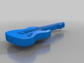 Guitar tie clip