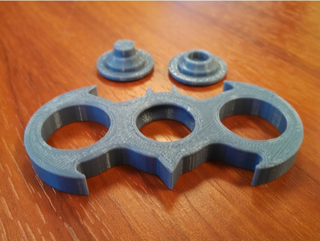 Batman Fid Spinner Embedded Bearing by OmegaGrim Thingiverse