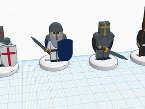 FlatMinis: Knights & Crusaders