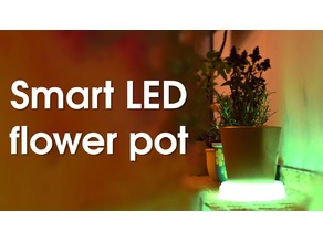 Smart LED flower pot stand