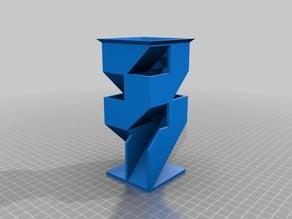 Angular Dice Tower - Variant 1