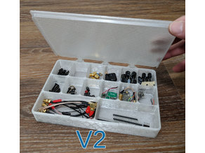 Screw and Bolt Box, hinged with snap lid and many size options