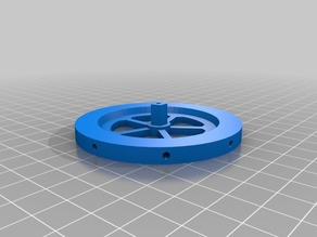 Balance wheel with holes for grub screws (speed tuning)