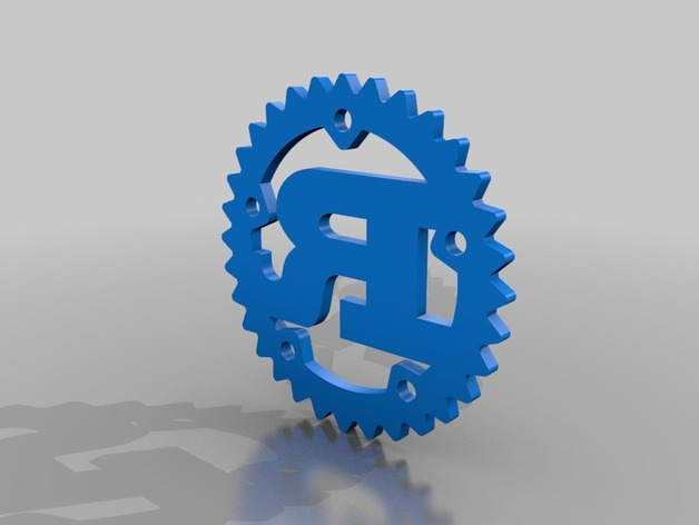 Rust Programming Language Logo by andygrove - Thingiverse