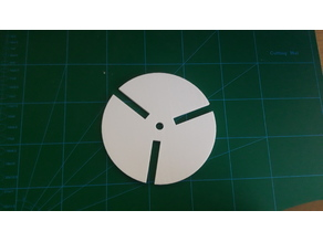 150mm Rotary table plate template