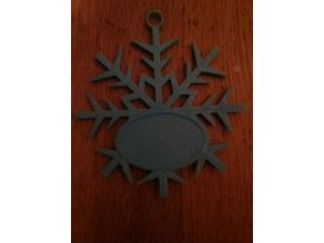 Snowflake Christmas Ornament With a Space for Writing