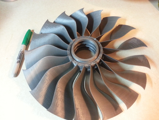 Jet Engine Fan Blades : Modified fan blade and hub for the quot high bypass jet engine
