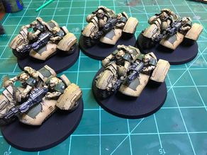 28 mm Heresy Attack Bike Sidecar - Cowl variant