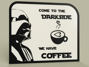StarWars - DarthVader - Come to the DarkSide we have COFFEE