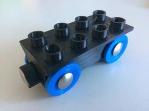 wood track magnet duplo train updated