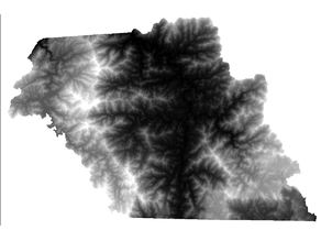 Macon County NC Digital Elevation Model