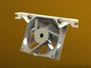 FT Kossel 2020 - 80mm RAMPS Cooling Fan Bracket