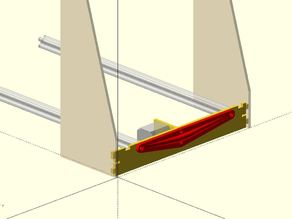 """Parametric Y-Axis Back Brace for 8"""", 10"""" or 12"""" Prusa i3v"""
