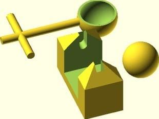 Mini desktop catapult
